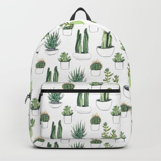 1ce91d5b9c watercolour cacti and succulent Backpack