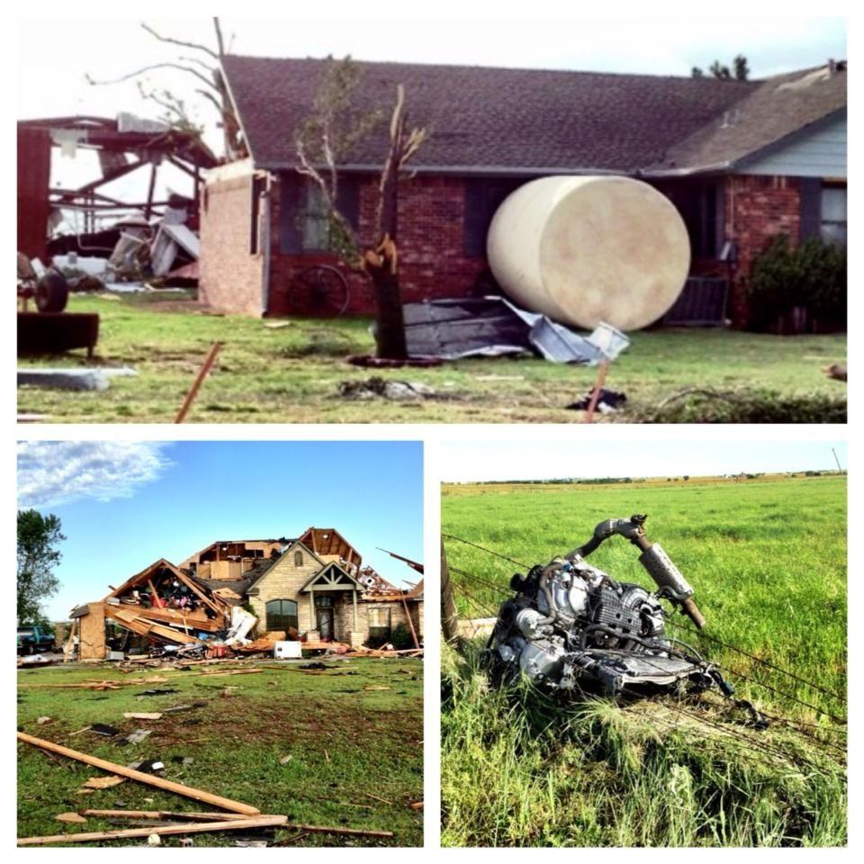 Tornado Damage Yukon Ok May 31 2013 Tornado Damage Tornado Yukon