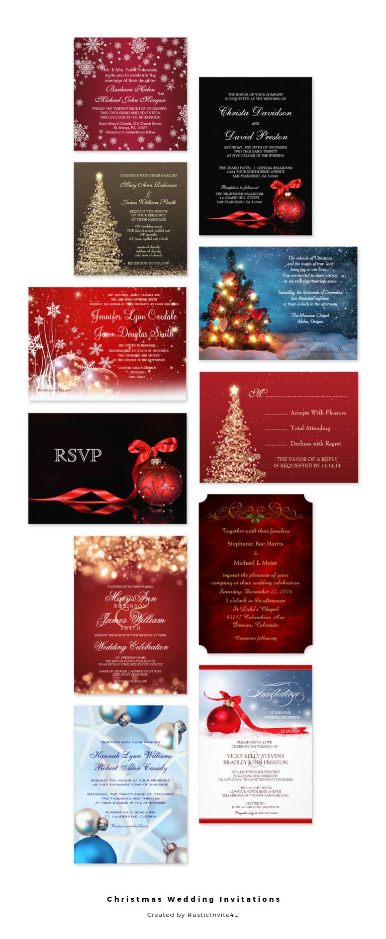 Christmas Wedding Invitations | Wedding Invitations for you ...