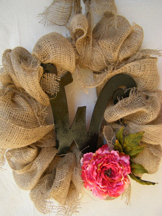 French Country Burlap Wreath