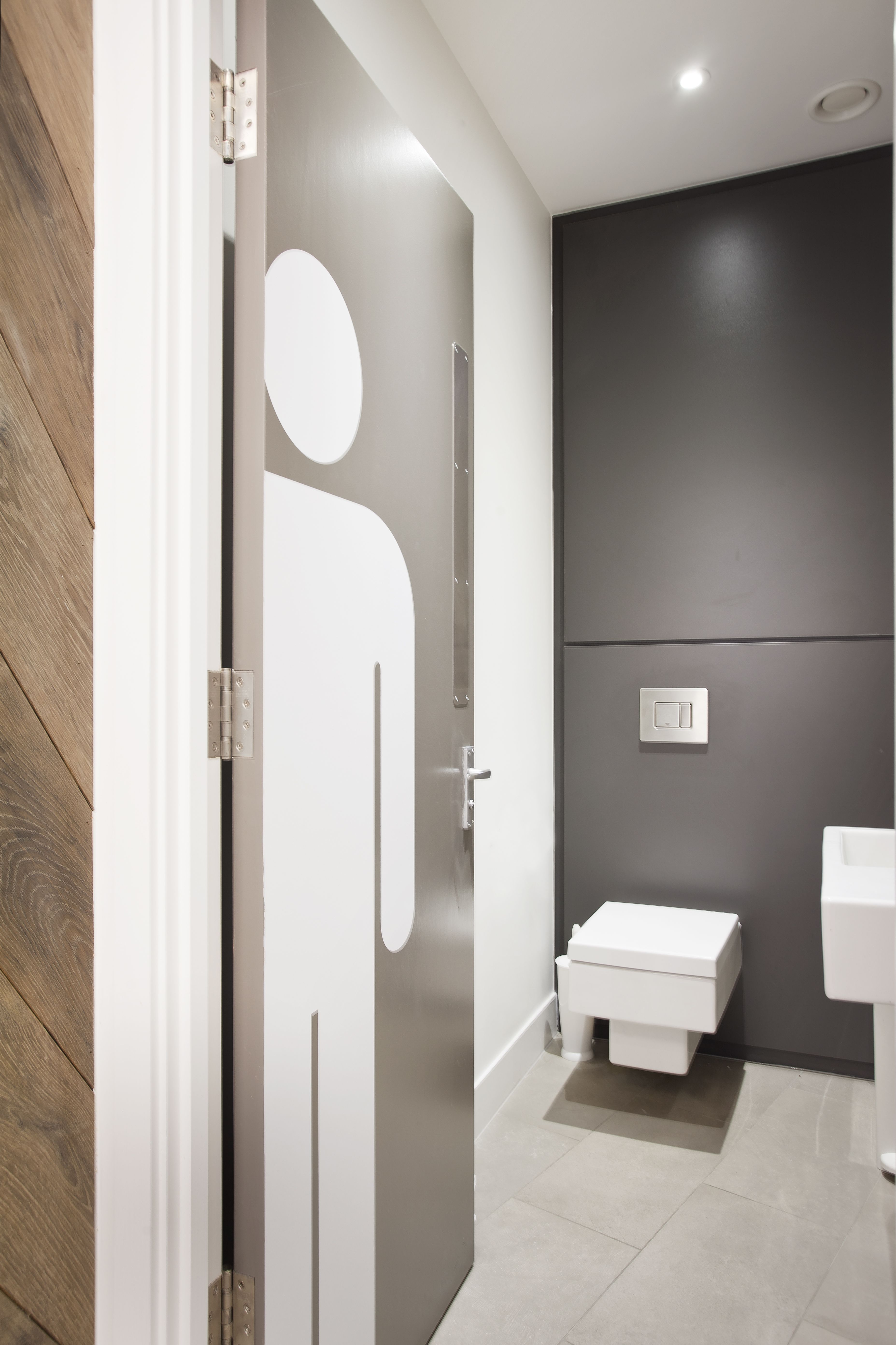 Loo, office, Alie Street fit-out by gpad london #toilet #bathroom ...