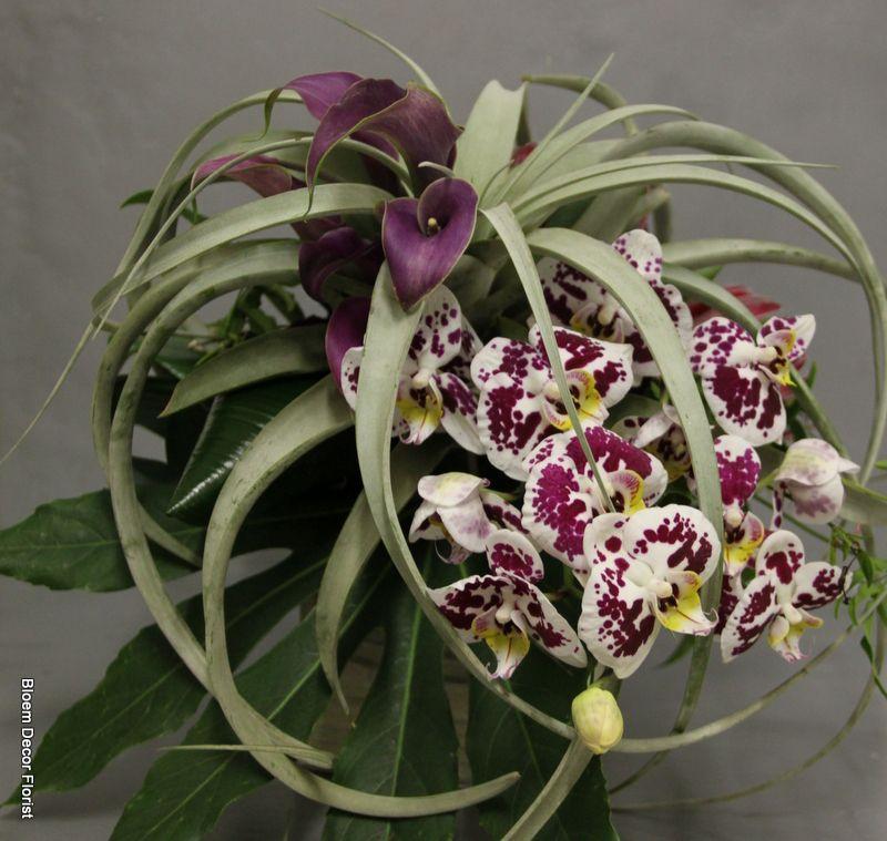 Stunning Avant Garde Bridal Bouquet For Pretty Pear Bride Magazine Shoot At Preston Castle With Purple Callas Purple Bridal Bouquet Event Flowers Flowers