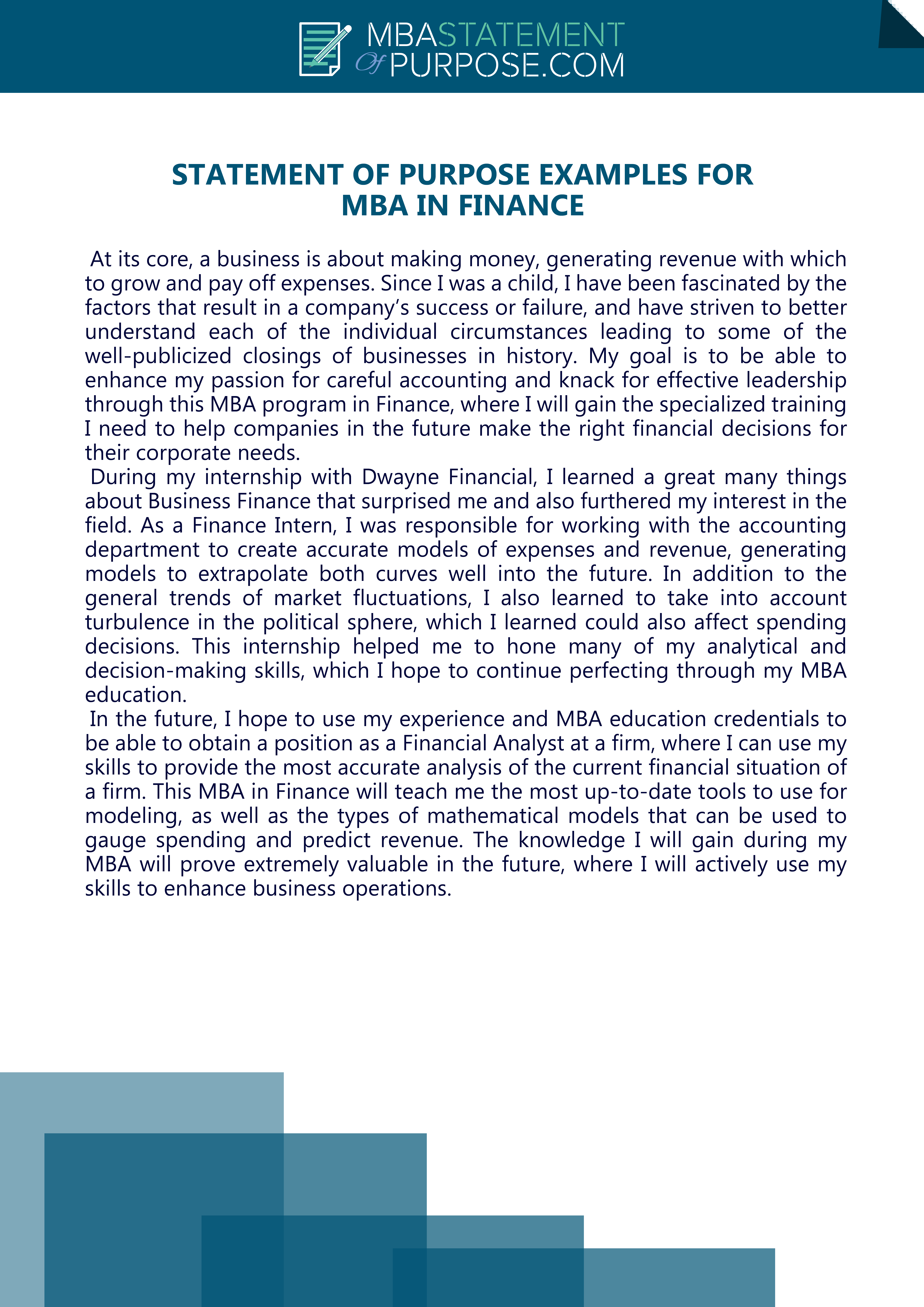 Click On This Link To Get Statement Of Purpose Examples For Mba In Finance Https Www Mbastatementofpu Professional Resume Writers Resume Writing Services Mba
