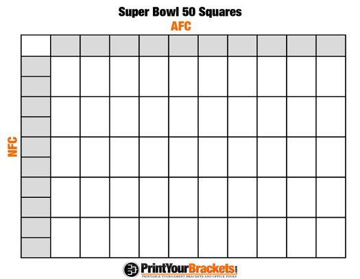 picture regarding Printable Football Squares referred to as Printable SuperBowl Squares 50 Grid Office environment Pool NFL Do it yourself within