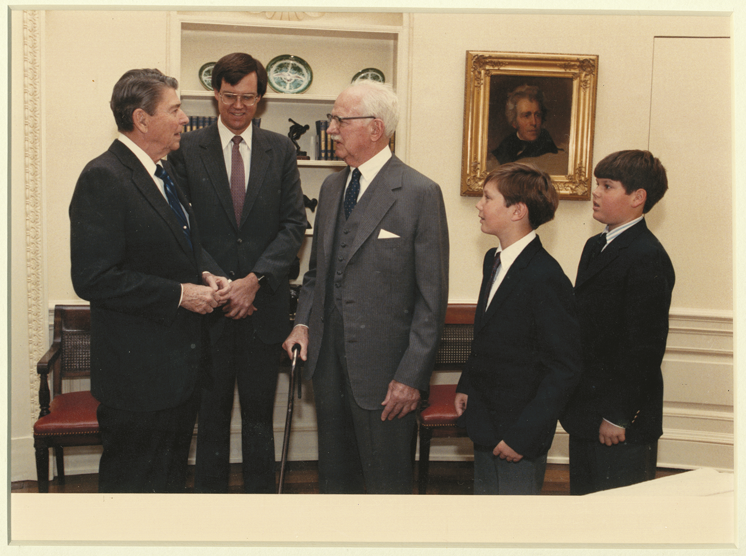 In 1988 Jack Hume Center Visited President Ronald Reagan In The