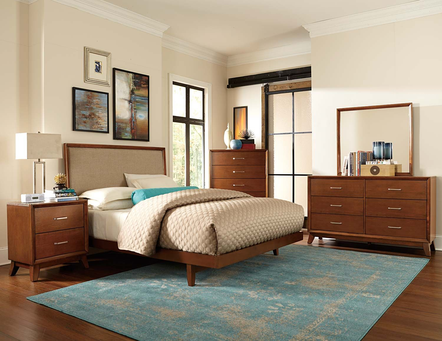 Home Elegance Soren Bedroom Set Retro Collection 50 S Style Bed