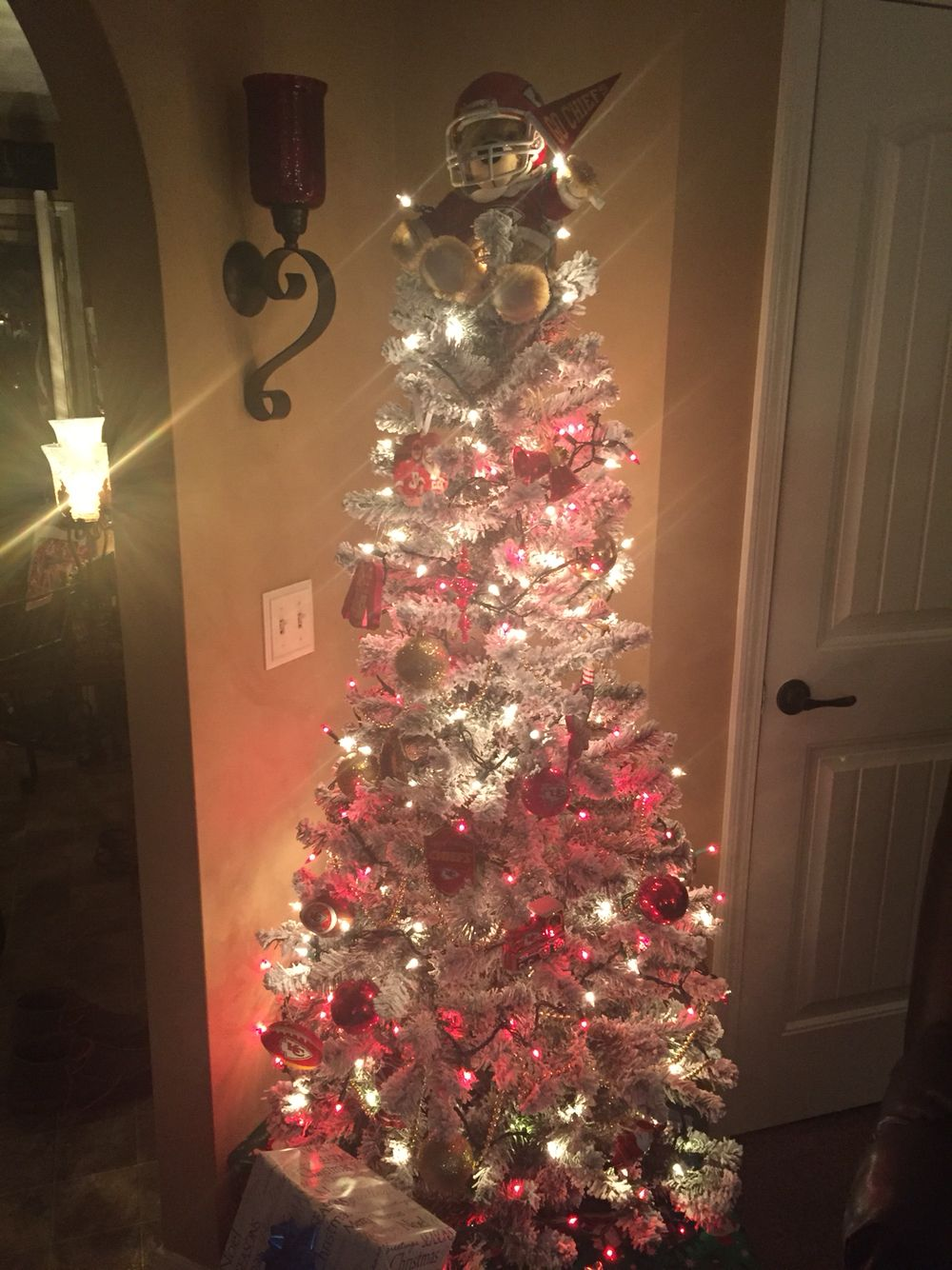Kansas City Chiefs Christmas Tree!...GO CHIEFS