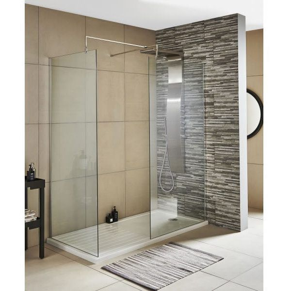 Diamond 1400mm Wet Room Screen 8mm Glass Walk In Shower Enclosures Shower Cubicles Shower Doors