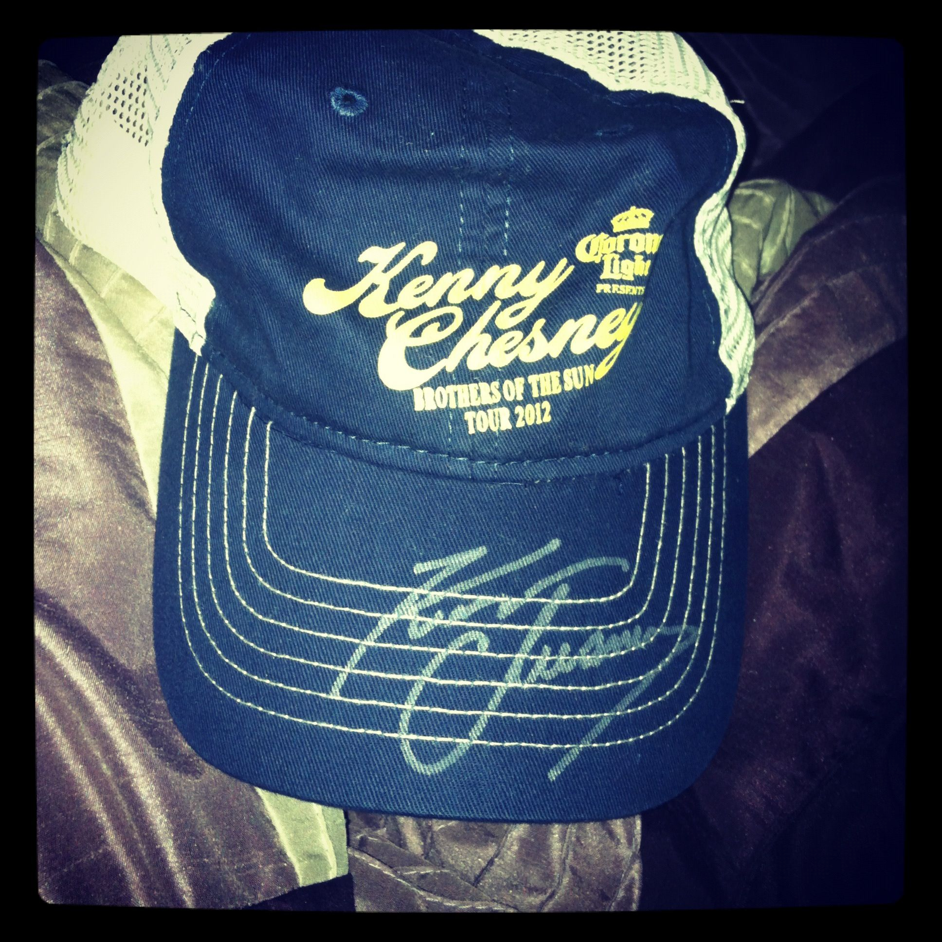 eff87d0b0 My autographed Kenny Chesney hat<3 | Music is my life | Hats, Kenny ...