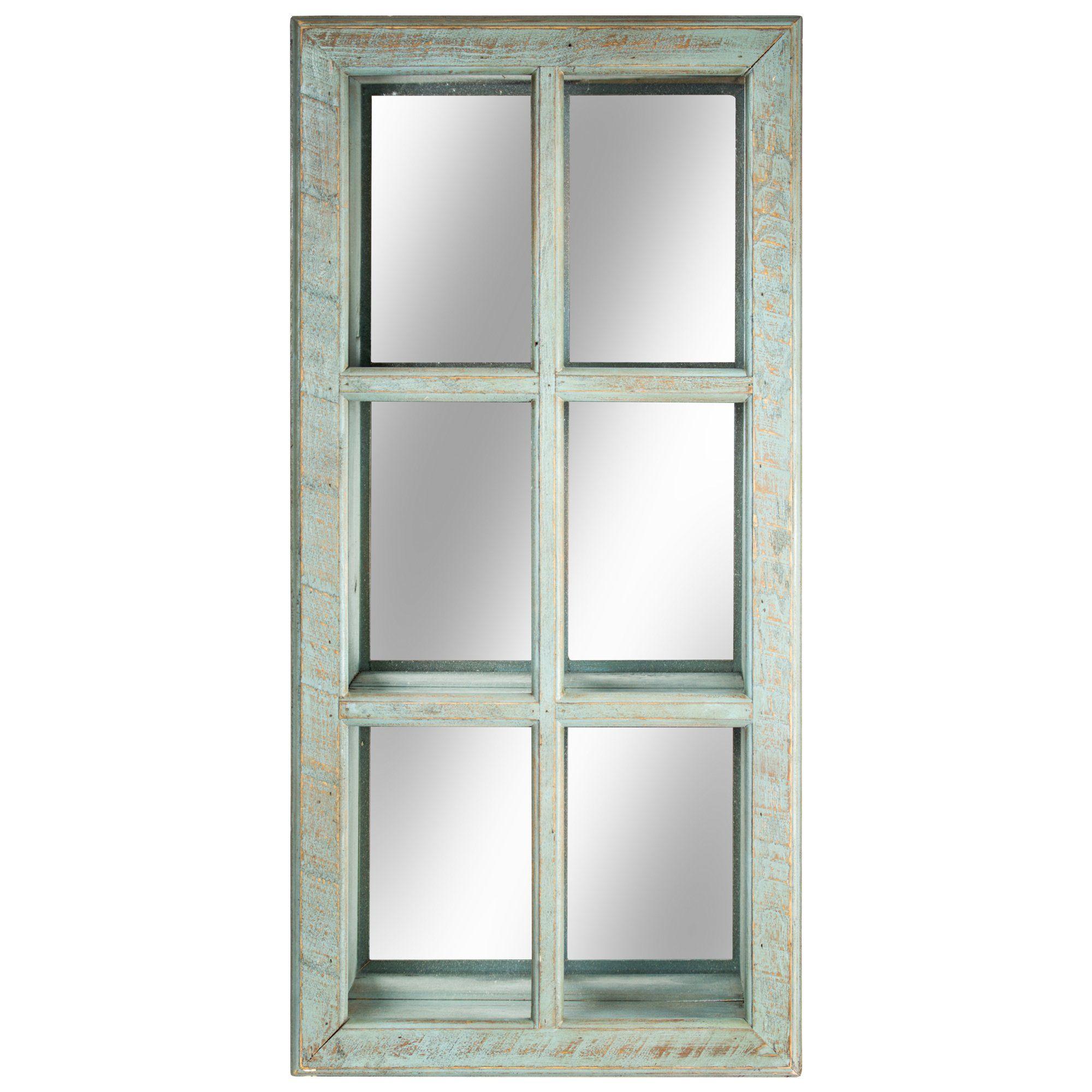 Crystal Art Window Pane Vanity Wall Mirror