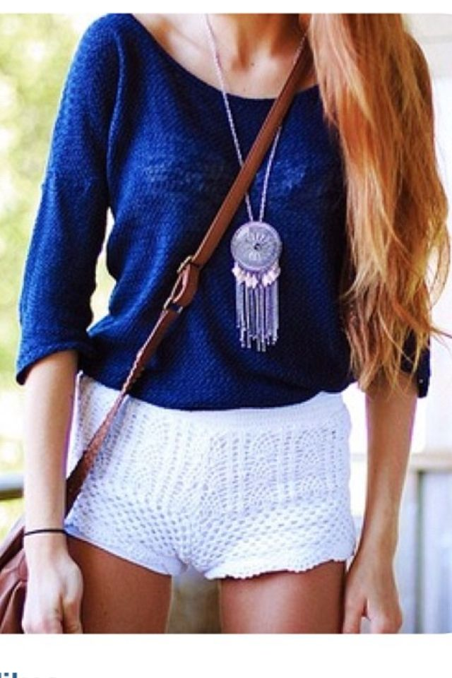 I LOVE this outfit! Perfect for a warm summer day. That necklace makes the whole outfit.