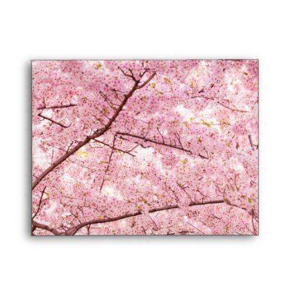 Cherry Blossom Trees Envelope Envelopes Custom Unique Diy Cyo Personalize Idea Envelope Blossom Trees Cherry Blossom Tree Door Mat