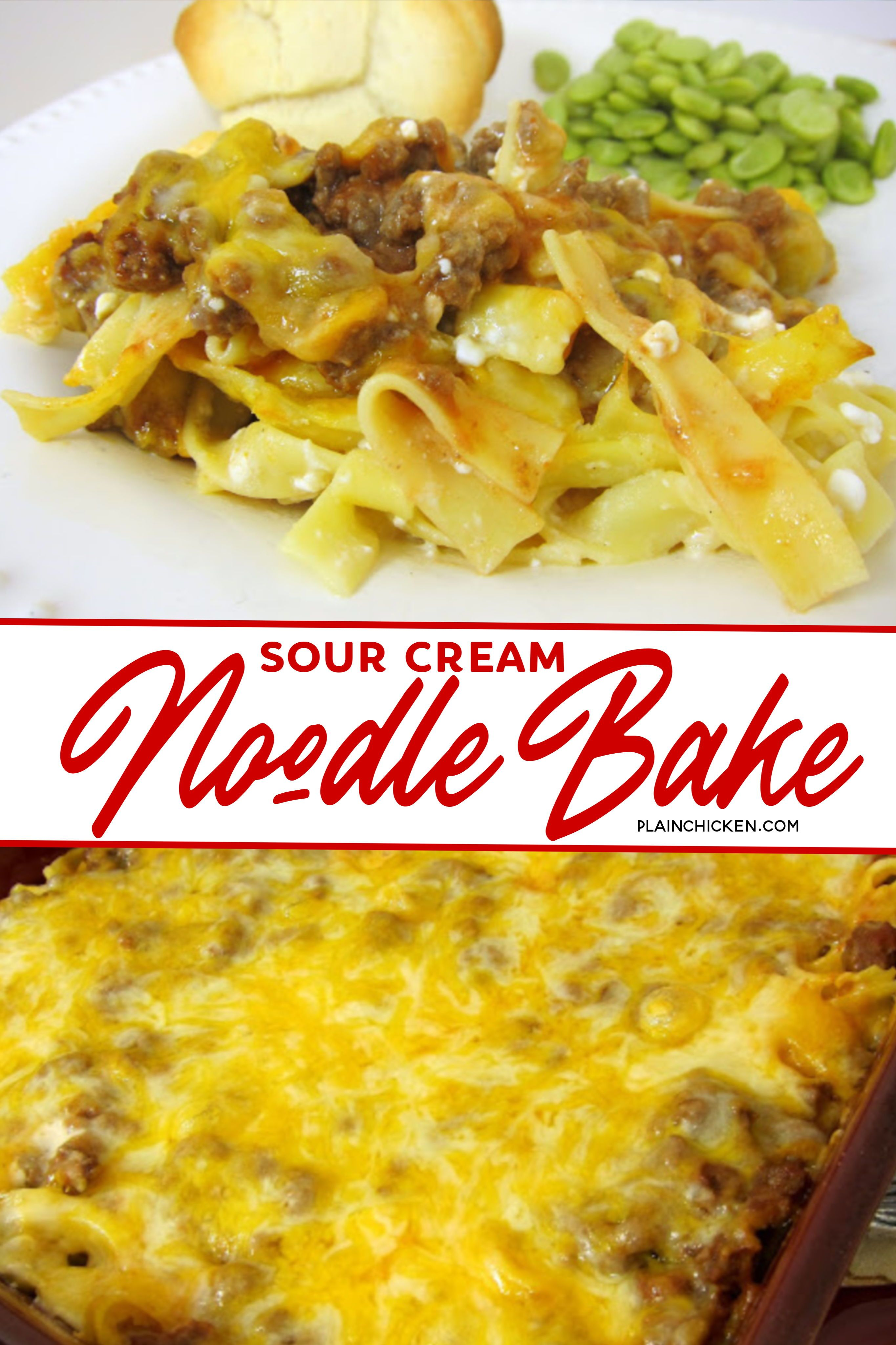 Sour Cream Noodle Bake In 2020 Sour Cream Noodle Bake Sour Cream Cheese Sour Cream