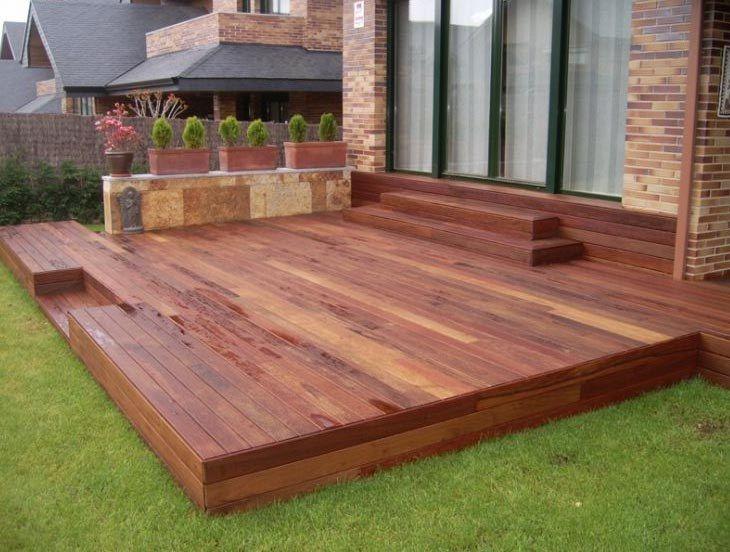 C mo construir una tarima de madera terrazas pinterest - Construir una pergola de madera ...