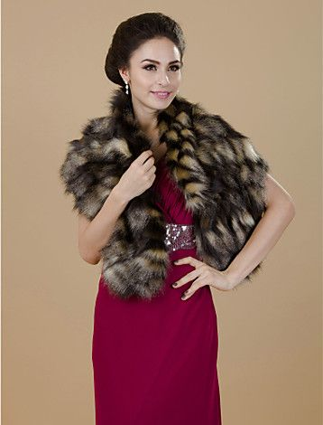 faux fur goes well to :)) / really nice