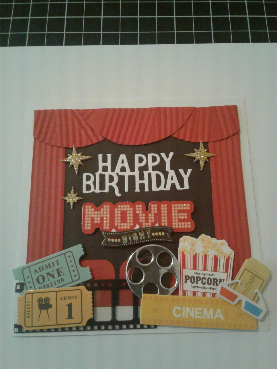 Movie Themed Birthday Card Hand Crafted Cards Card Craft Birthday Cards