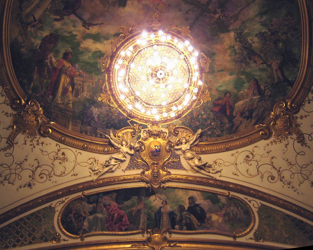Croatian Natl Theatre Ceiling Zagreb Img 0170 In 2020 Zagreb Theater Ceiling Eiffel Tower