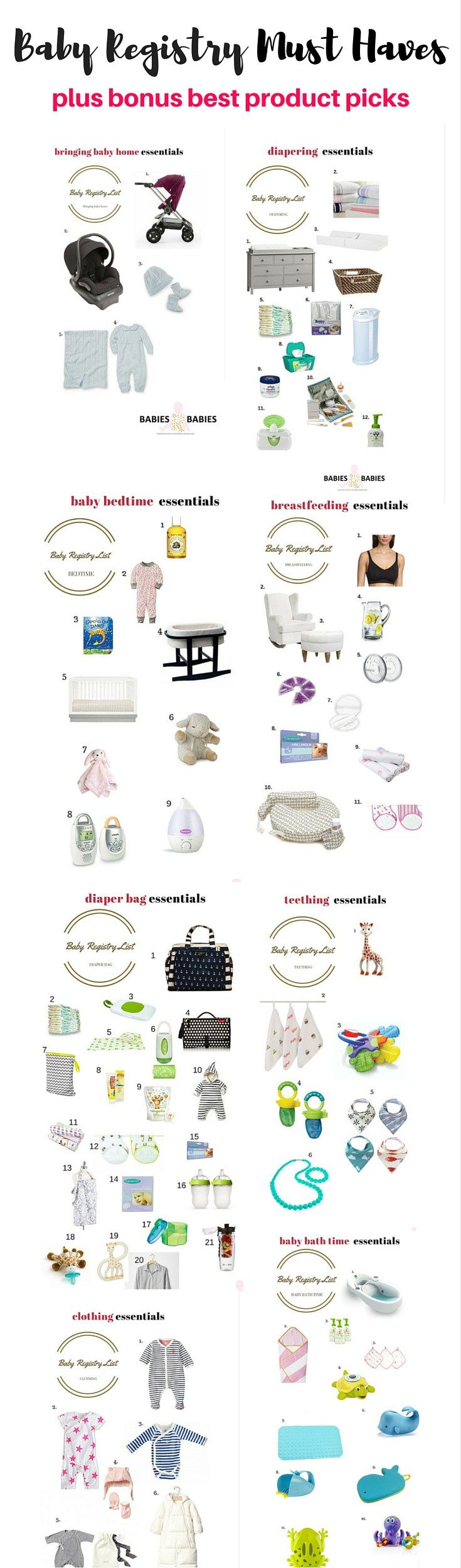 The baby chicks ultimate baby registry checklist baby registry baby registry list sciox Choice Image