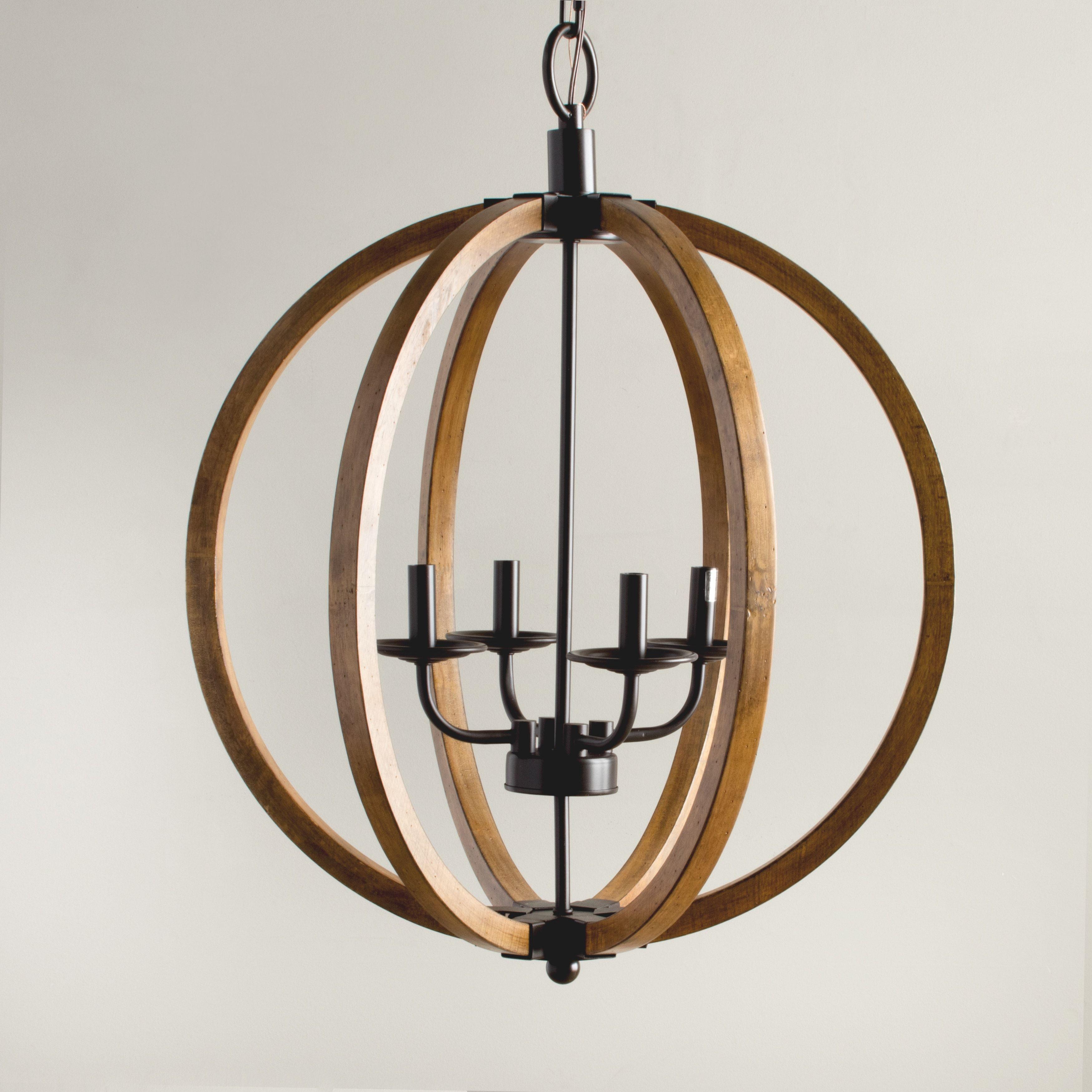 Vineyard Distressed Mahogany And Bronze 4 Light Orb
