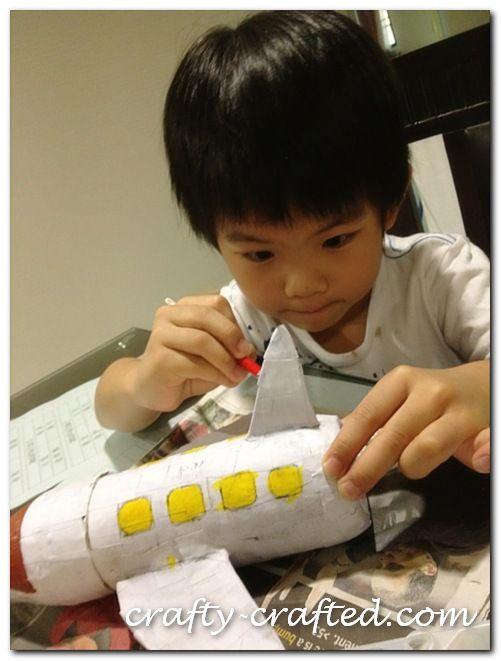Papier Mache Aeroplane Pencil Case_3