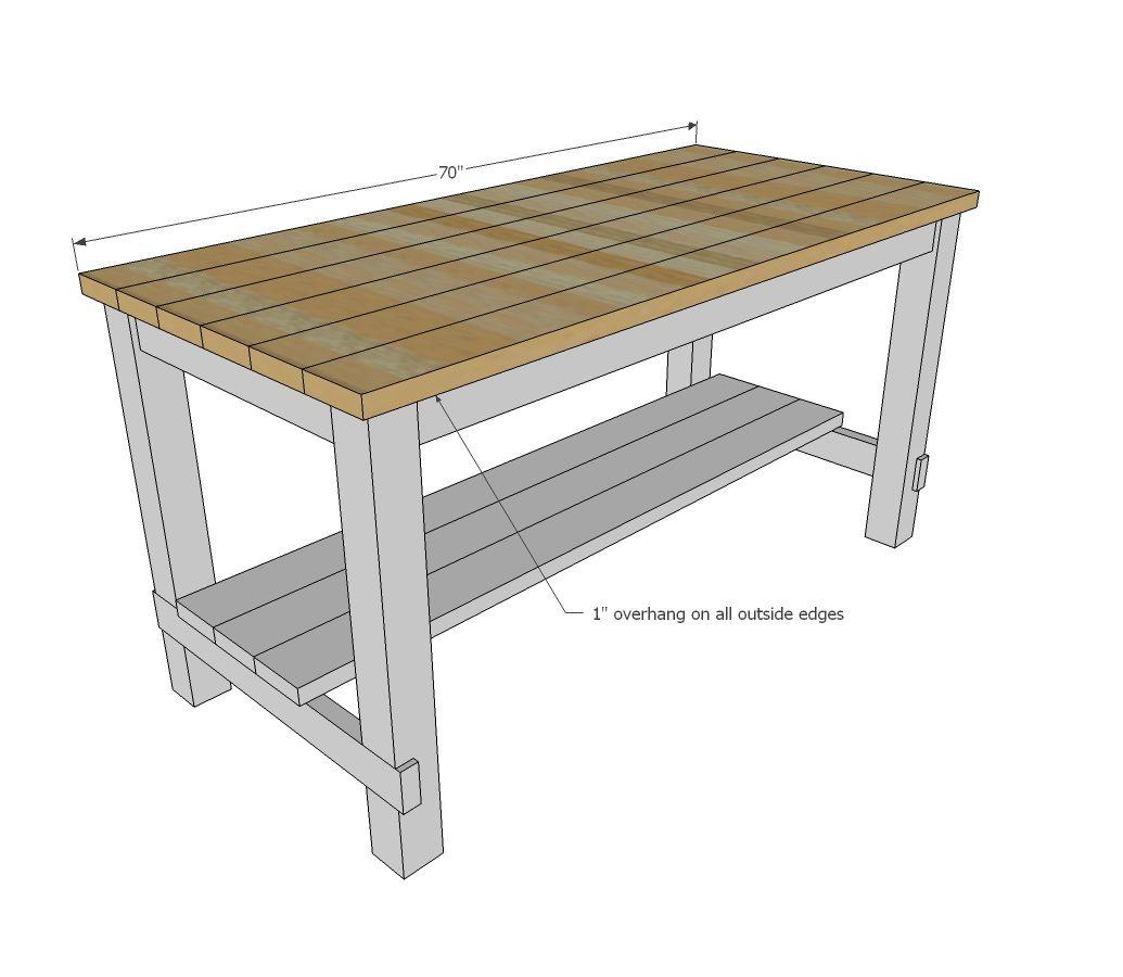 Kitchen Furniture Plans: Build A Farmhouse Style Kitchen Island For