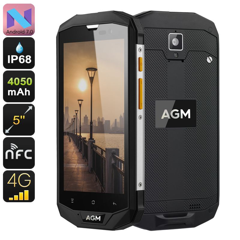 AGM A8 Rugged Android Phone - Android 7 0, Dual IMEI, 4G