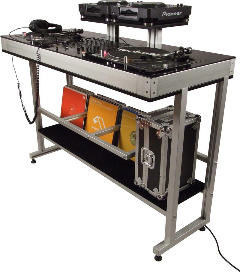 DEX DEX-2TS-CDJ DJ TURNTABLE STAND | DJ table | Pinterest ...