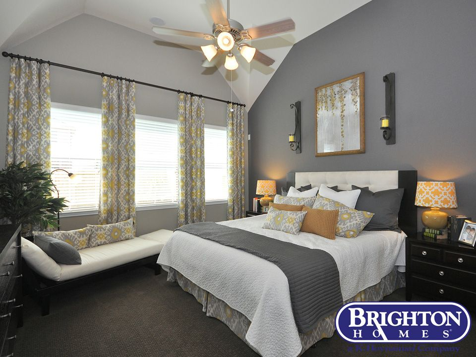 Model Home Curtains master bedroom #contemporary style in our easton model home