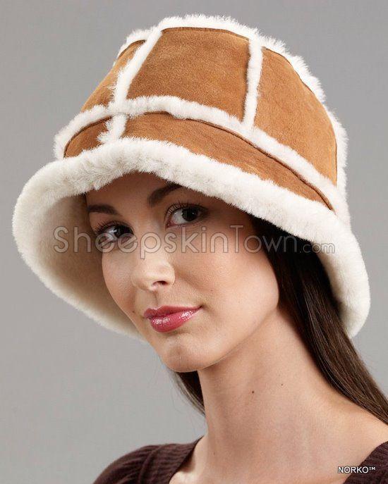 Cognac Bucket Hat - Shearling Sheepskin 03d4e17f3e17
