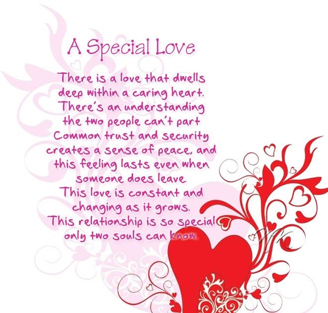 A Special Love   Love poems, Love messages, Poems for him