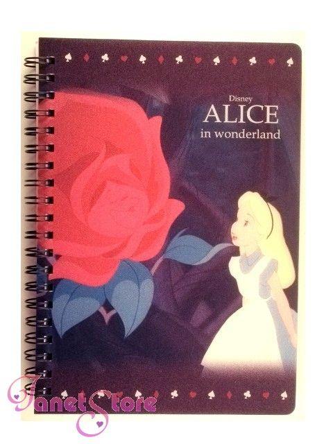 Disney Alice in wonderland notebook