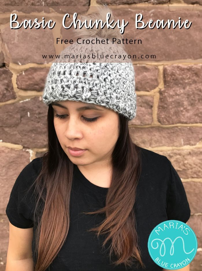 Basic Chunky Beanie Crochet Pattern Free Crochet Yarns And Crochet