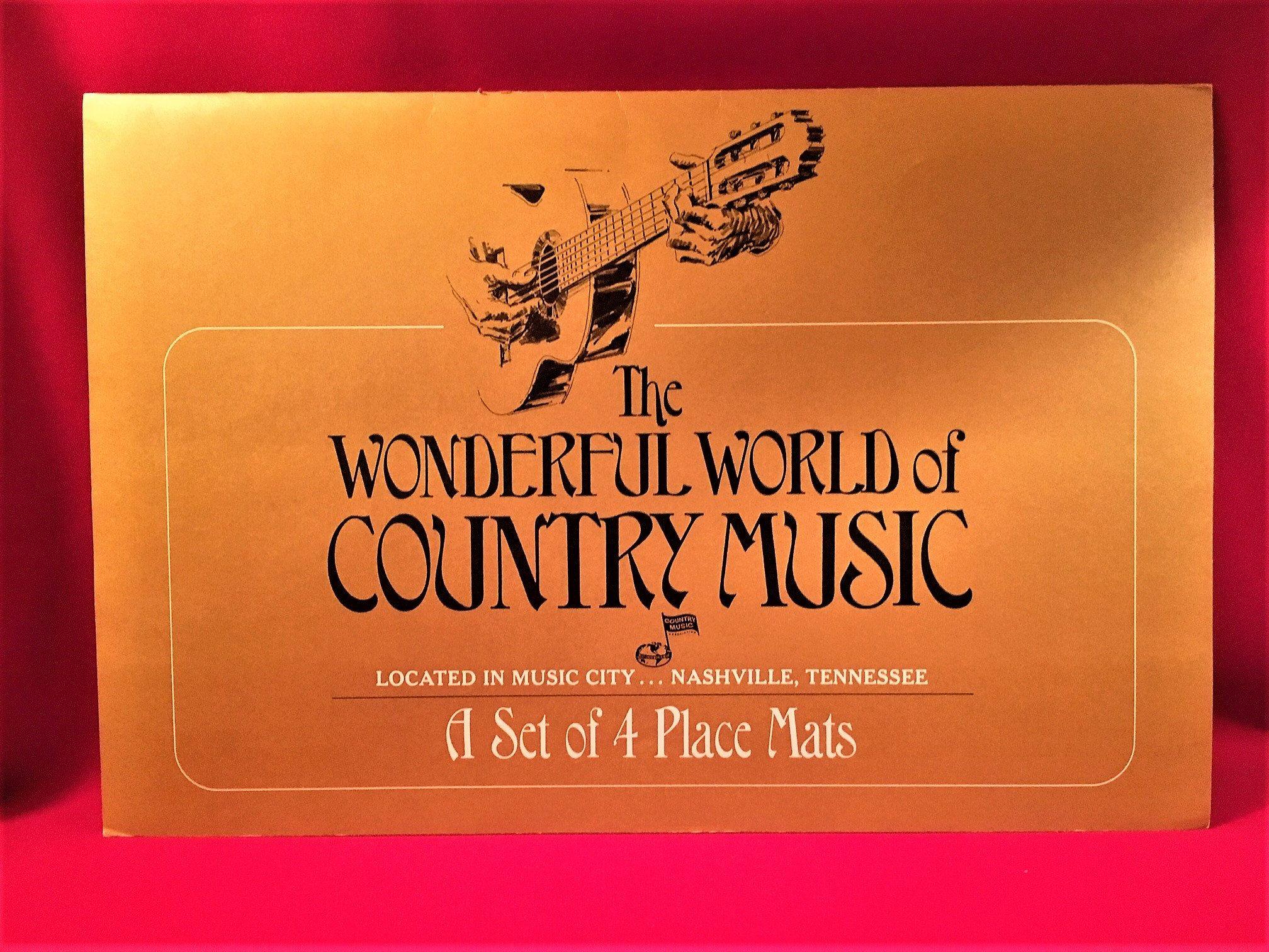 Wonderful World Of Country Music Vinyl Placemats Tex Etsy Country Music Wonders Of The World Grand Ole Opry