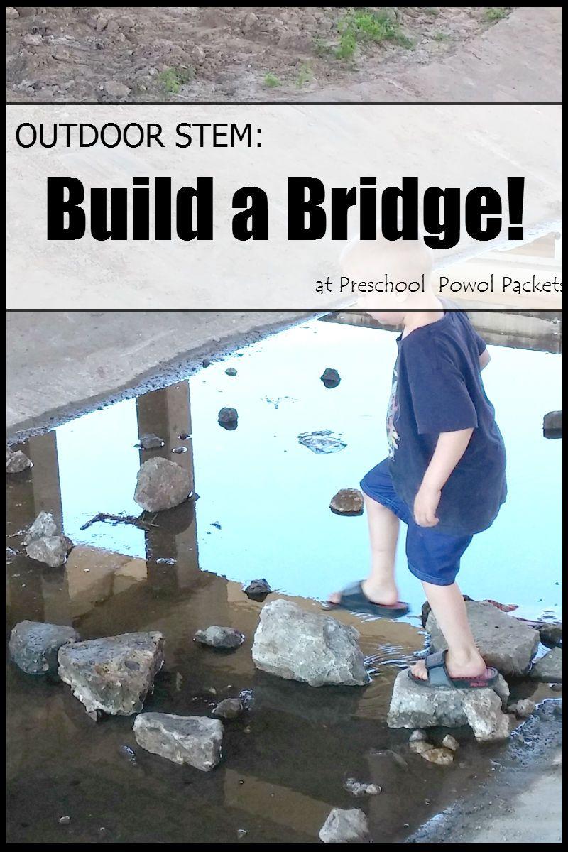 Outdoors Stem Build Bridge - Science