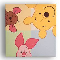 Winnie the Pooh Leinwand Wandkunst, Peeking Pooh   - drawing//art - #drawingart #leinwand #Peeking #Pooh #Wandkunst #Winnie #selbstgemachteleinwandkunst