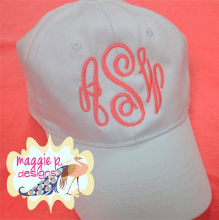 How to Monogram a Baseball Cap: Embroidery Machine