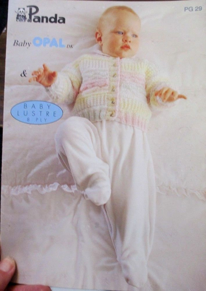 PANDA BABY knitting pattern LEAFLET PG. 29 3 MONTHS to 9 MONTHS 8PLY ...