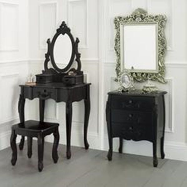 Antique Black Bedroom Furniture Awesome French Style Rococo 4 Bedroom Set Dressing Table 2X Bedside Inspiration Design