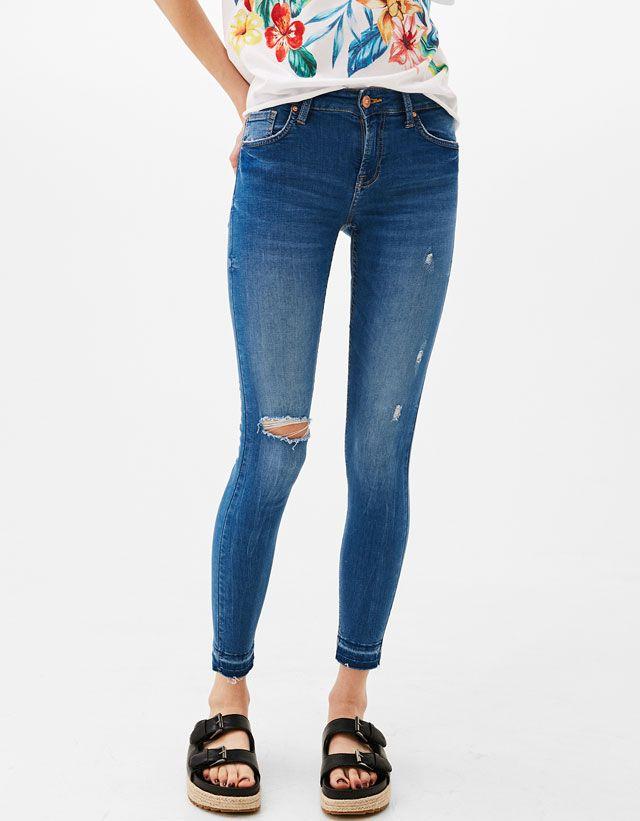 Precios Especiales Ropa Mujer Bershka Espana Calsa Jeans Looks Jeans