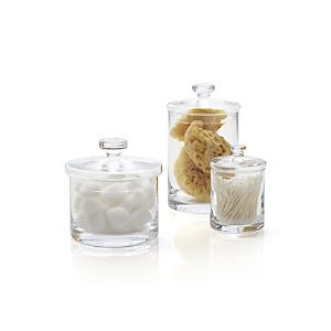 Bathroom Canister Set Beauteous Glass Canisters Set Of Three  Crate & Barrel  Aptg  Pinterest Design Ideas