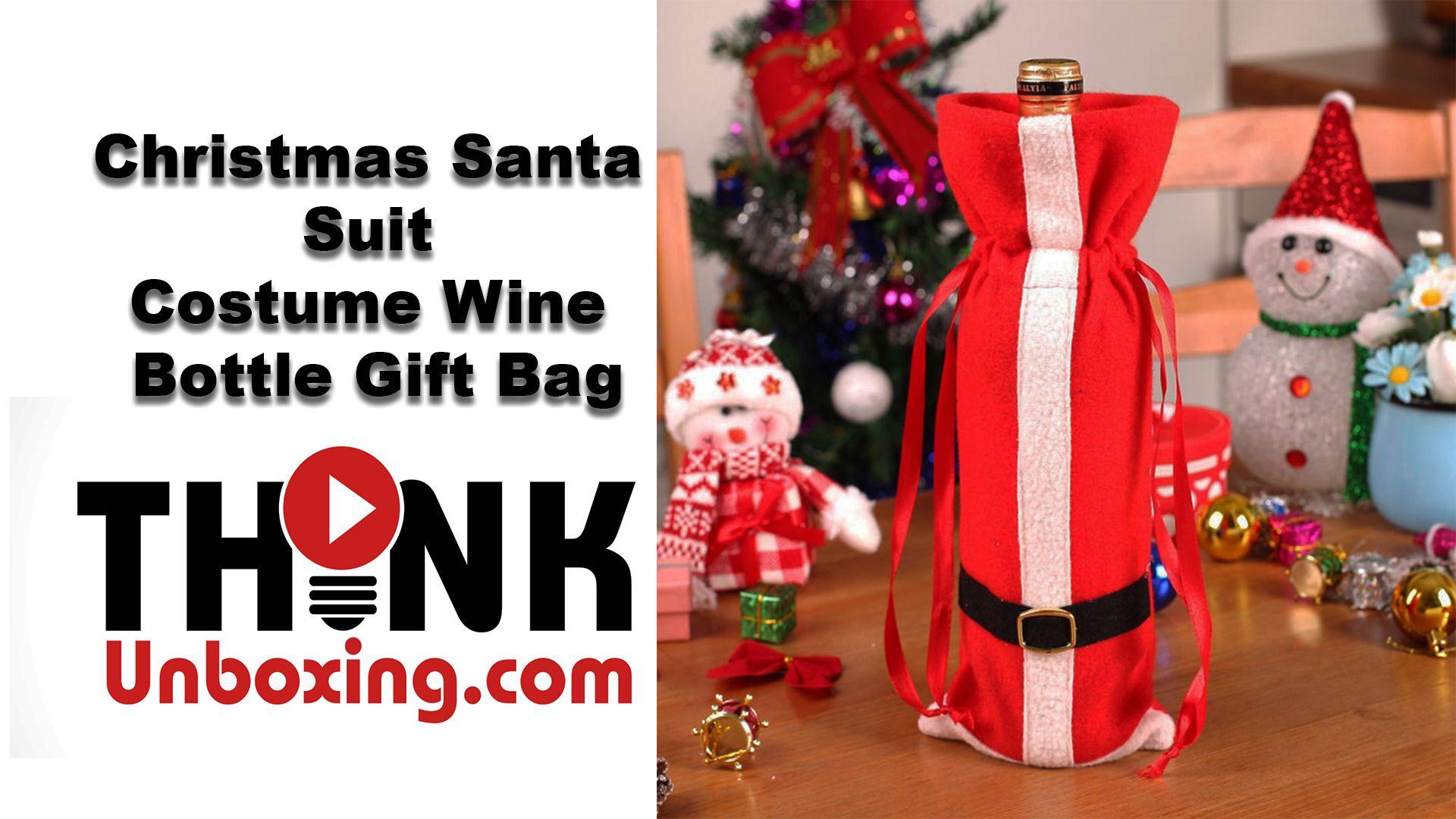 New Christmas Red Santa Wine Bottle Bag