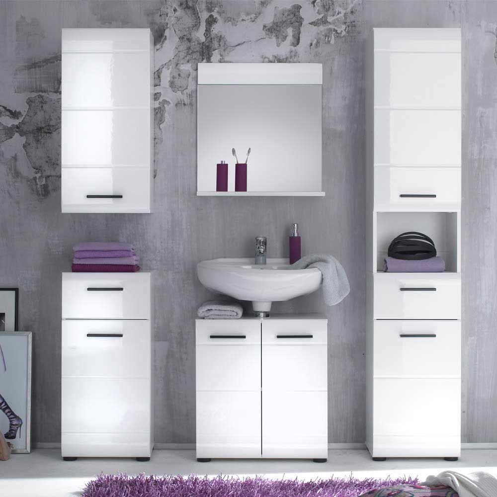 Schön Badezimmer Kombination In Weiß Modern (5 Teilig) Jetzt Bestellen Unter:  Https: