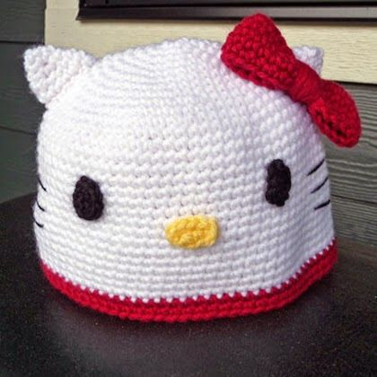 Hello Kitty Crochet Hat Pattern Hk Stuff Pinterest Hello