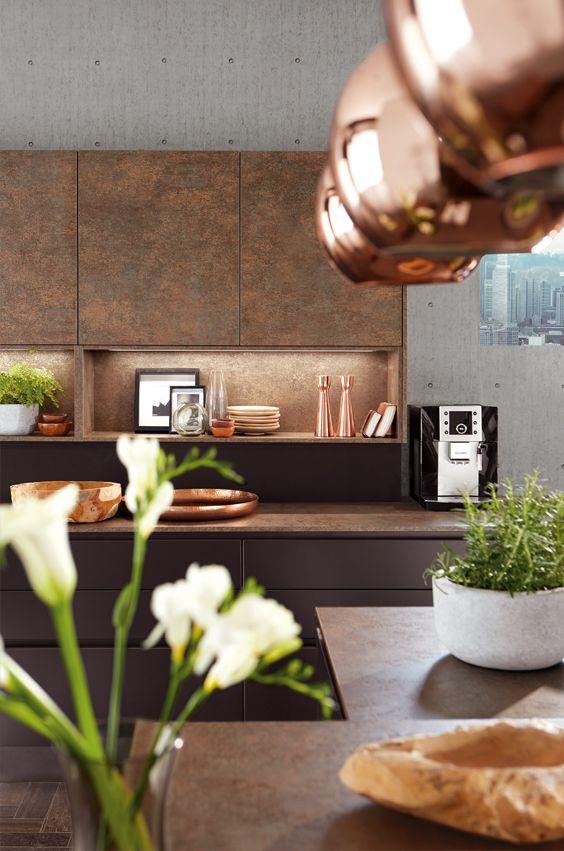 Küche Kupfer | Kuche In Braun Und Kupfer Kupfer Kuche In 2018 Pinterest Kuche
