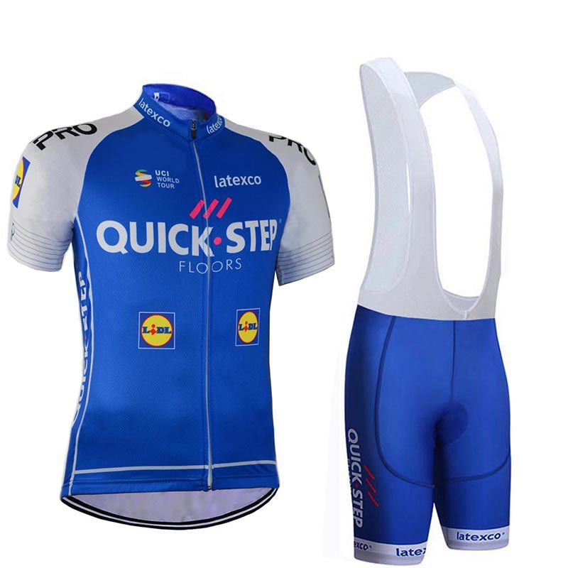 d185dafb5 Team 2017 Quick Step Cycling jersey bike shorts set Ropa Ciclismo 9D Gel  Pad mens summer