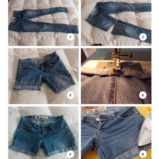 c12836d9e Recicla, convierte un pantalón viejo en short. | Buenas ideas | De ...