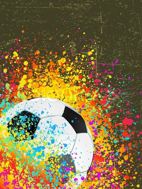 Stock Vector Of Splash Grunge Background With A Soccer Ball In 2020 Sports Drawings Soccer Ball Soccer Art