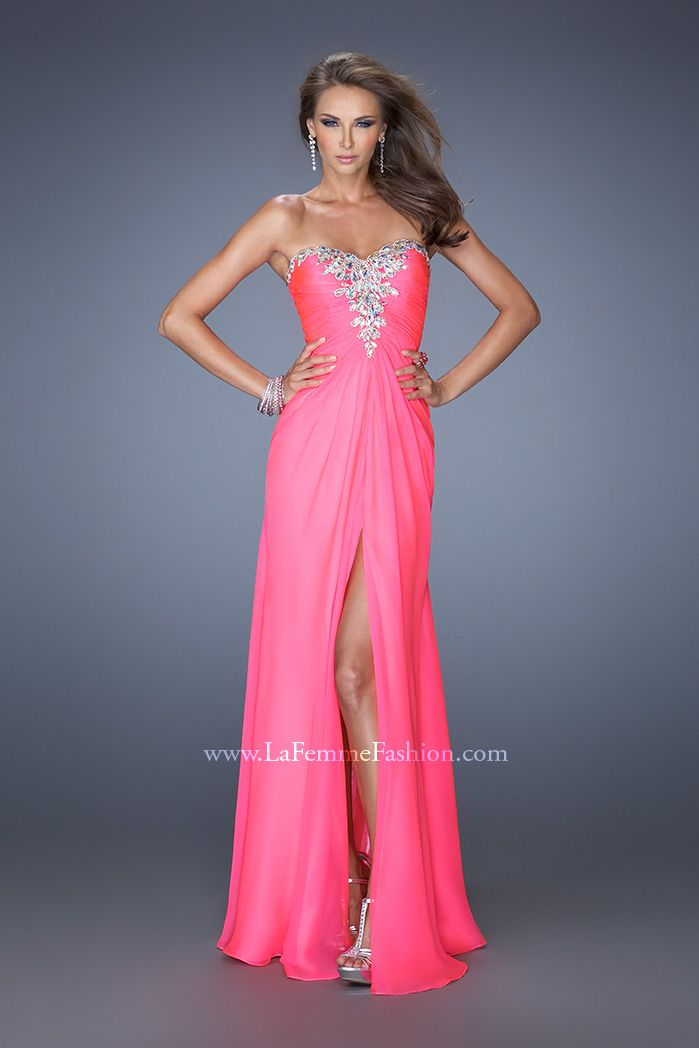 Fashionable Hot Pink from La Femme Fashions #ipaprom   Prom Dresses ...