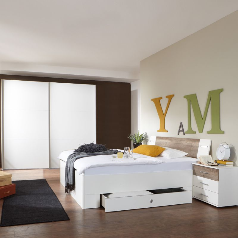 Schlafzimmerset 4-tlg »MODEO« alpinweiß - Wildeiche Jetzt - günstige komplett schlafzimmer