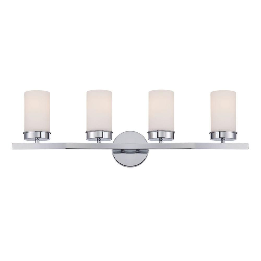 World imports kandinsky collection 4 light chrome vanity light with world imports kandinsky collection 4 light chrome vanity light with opal glass shades wi973008 the home depot aloadofball Image collections